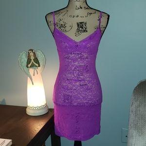 Victoria's Secret Lacie Semi-sheer Lace Chemise